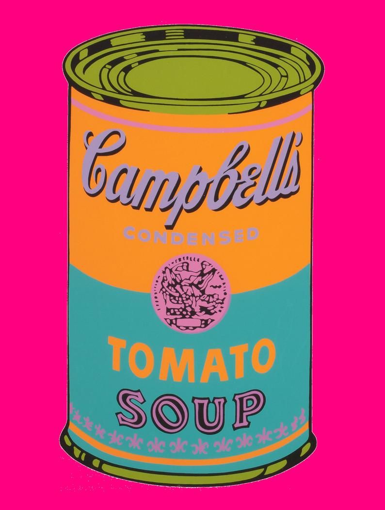 Andy Warhol Campbell S Condensed Soup Pop Art Print Etsy Campbell S Soup Cans Pop Art Print Warhol