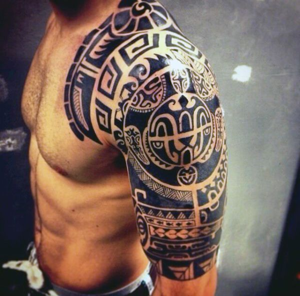 Top 53 Half Sleeve Tattoo Ideas 2020 Inspiration Guide Cool Shoulder Tattoos Tribal Arm Tattoos Tribal Tattoos For Men