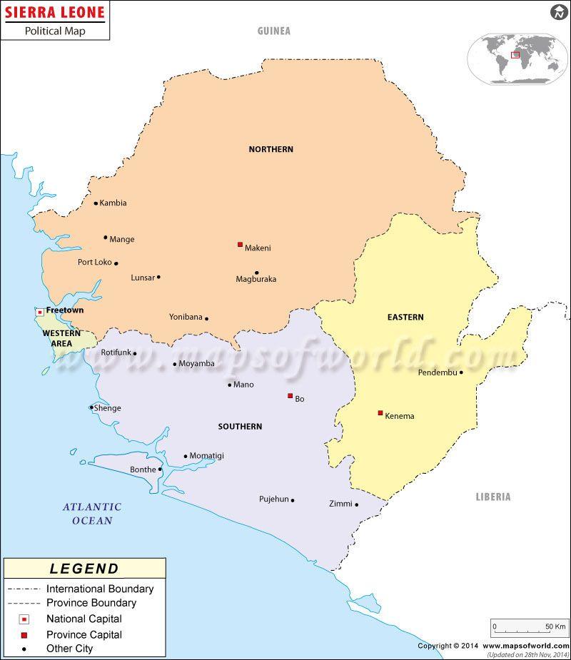 Mapa de Sierra Leona Sierra Leona Mapa Sierra leone