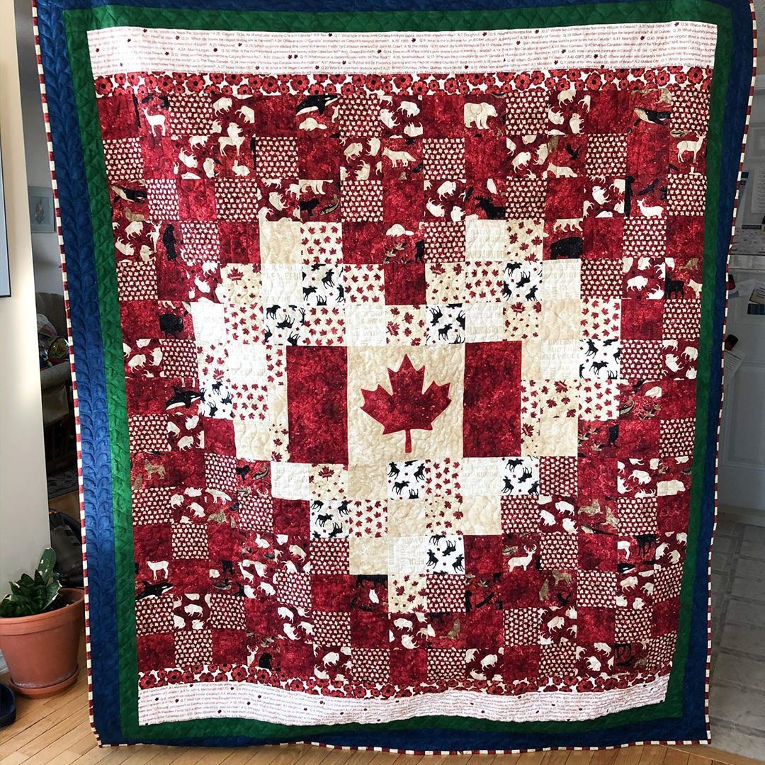 Anita lahay on instagram a finished canadian flag pixel