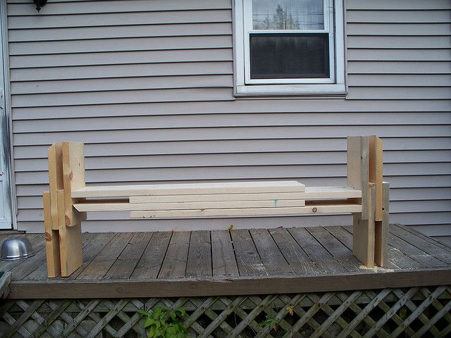 My new front porch bench | Flickr - Photo Sharing!