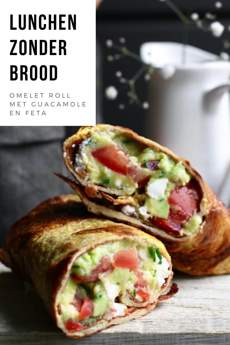 Omelet roll met guacamole en feta - Beaufood