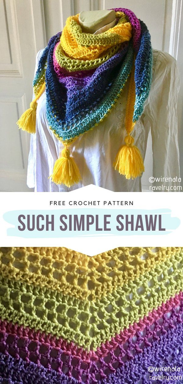How to Crochet Such Simple Shawl