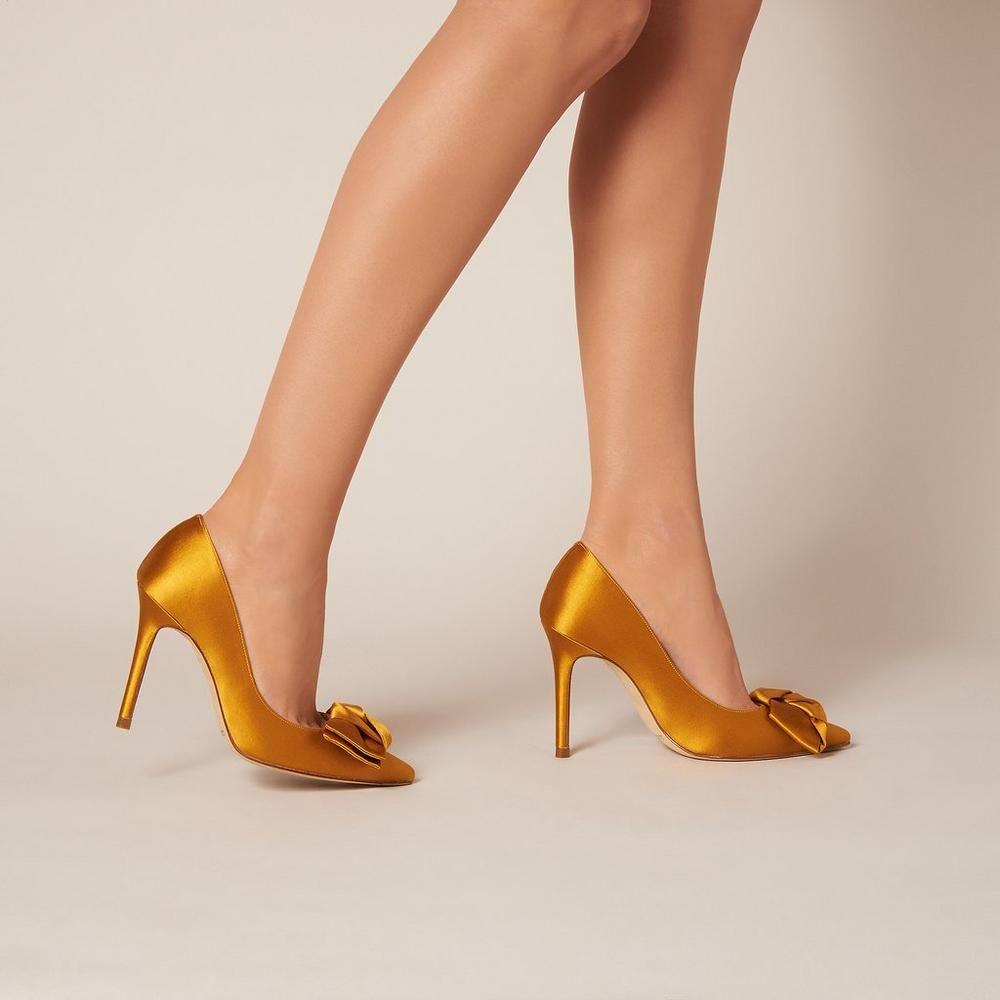 Gold Satin Heels