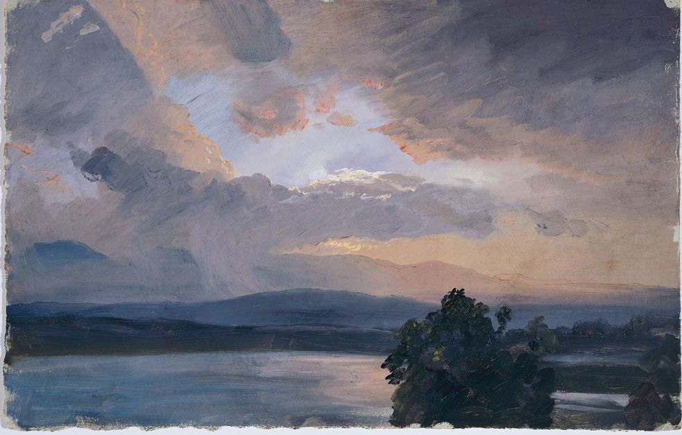 Summer Sunset From Olana By Frederic Edwin Church With Images