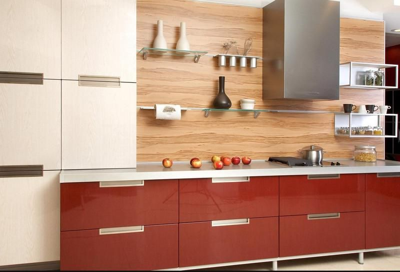 modern kitchen backsplash 2013. 2013 Kitchen Modern Cabinet In Red Backsplash Wood Chrome Chimney Fittings Italian
