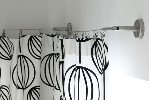 Delightful Ikea DIGNITET Curtain Wire, Stainless Steel RM39.90 Curtain Hook With Clip  (24pc