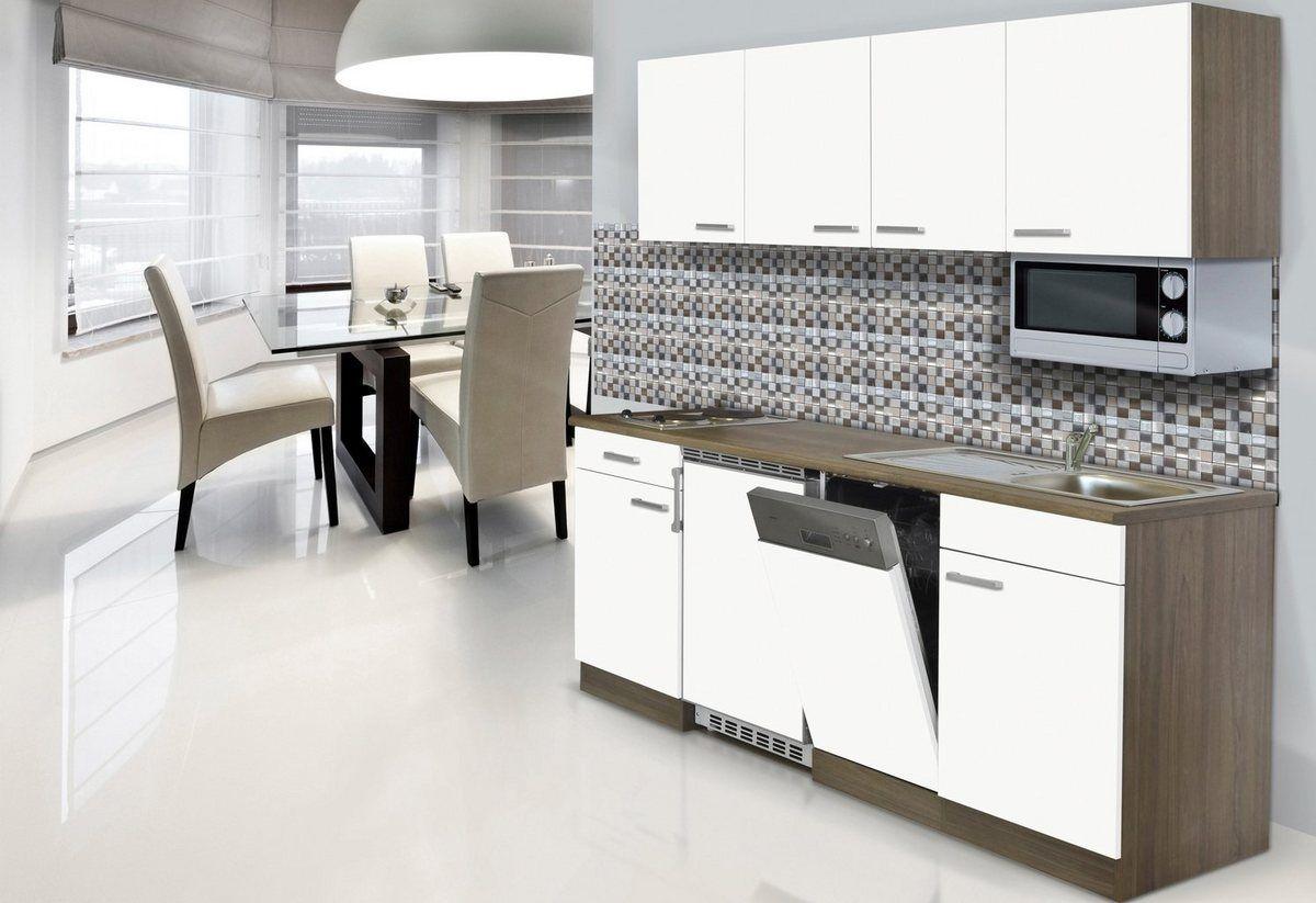 Küchenzeile mit EGeräten »York«, Breite 195 cm Küche