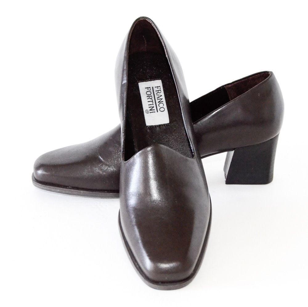 6c695241a0 Women s Franco Fortini Coffee Brown leather Pumps Heels 6.5M  FrancoFortini   PumpsClassics