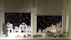 Fensterbild Winterlandschaft Zum Ausdrucken Ideias De Decoracao De Natal Decoracao De Natal Decoracao Para Janela