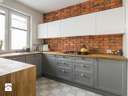 Czerwona Cegła W Kuchni Kuchnia łoś Kitchen Home Decor