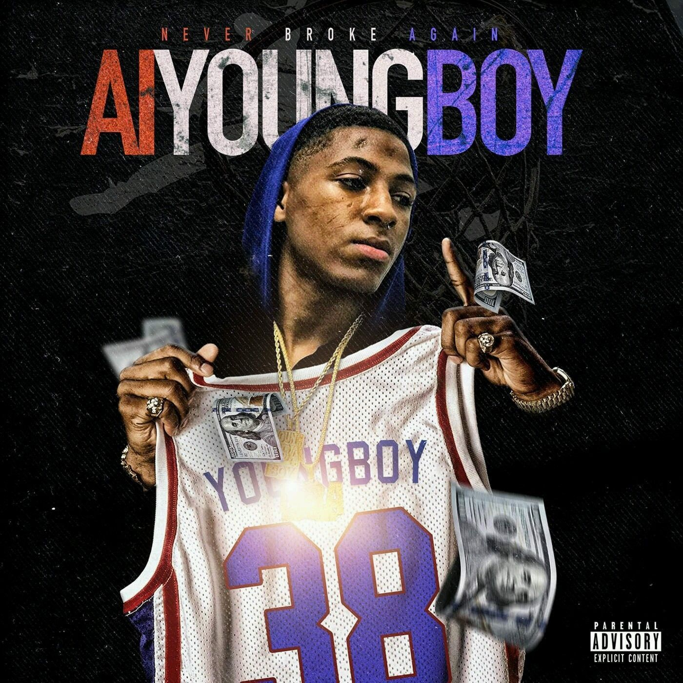 "NBA AI Youngboy Never Broke Again New Album Art Cover Poster 20×20 24×24/"" 32×32/"""