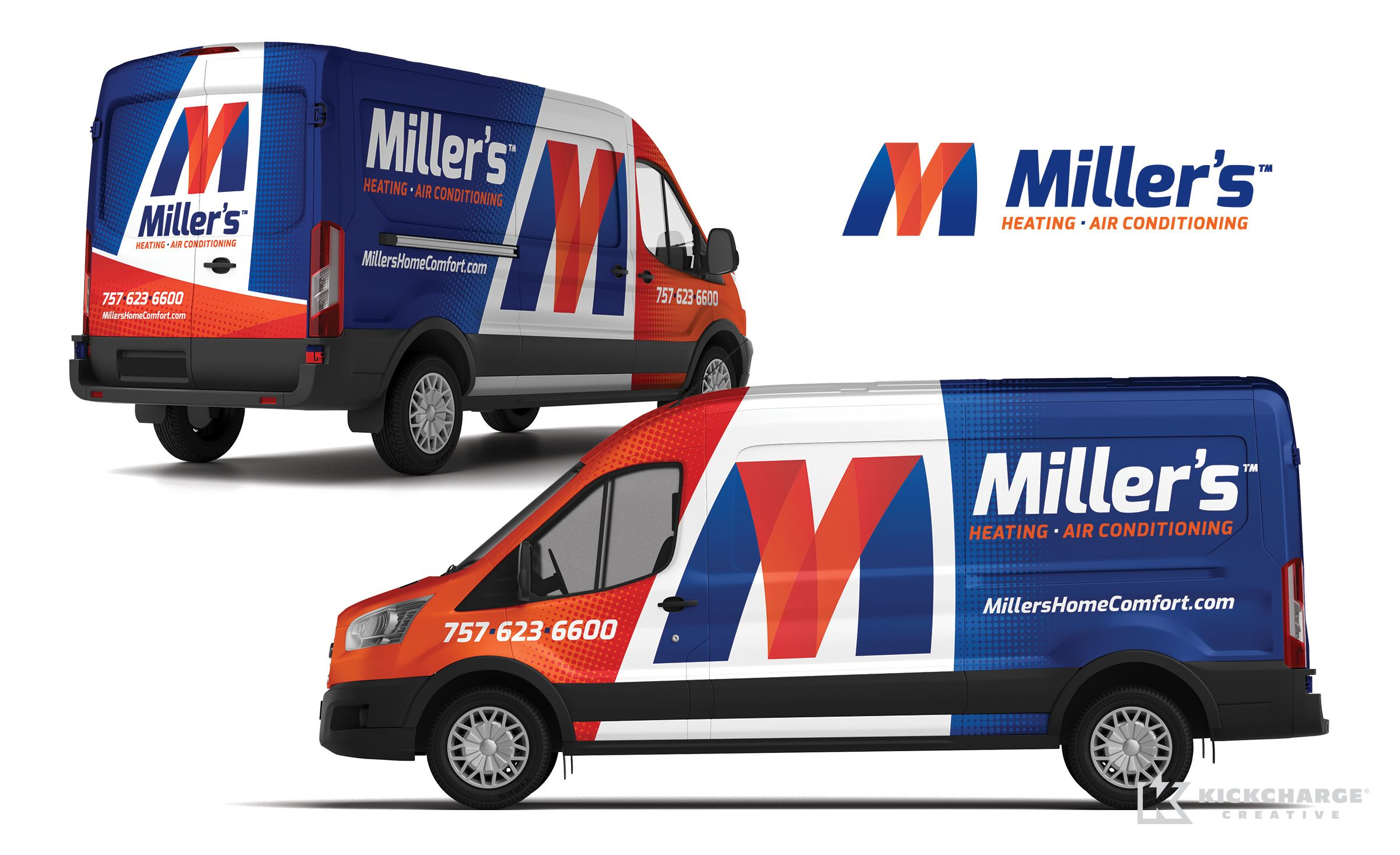 Truck wrap design for Miller's Heating & Air Conditioning