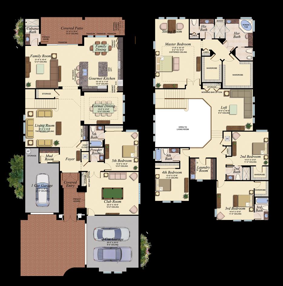 Pacific Sanibel Floorplan Png 935 944 House Blueprints Dream House Plans House Plans