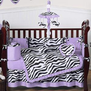Purple Funky Zebra Baby Bedding 9 Pc Crib Set Only 189 99