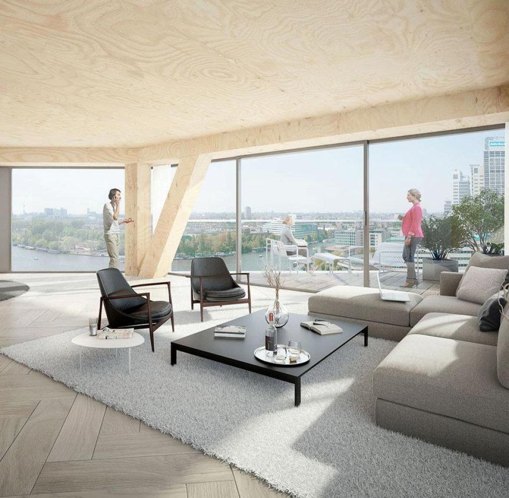 Team V Architectuur Wurde Mit Dem Bau Eines Konsequenten Öko Holzhauses In  Amsterdam Beauftragt: