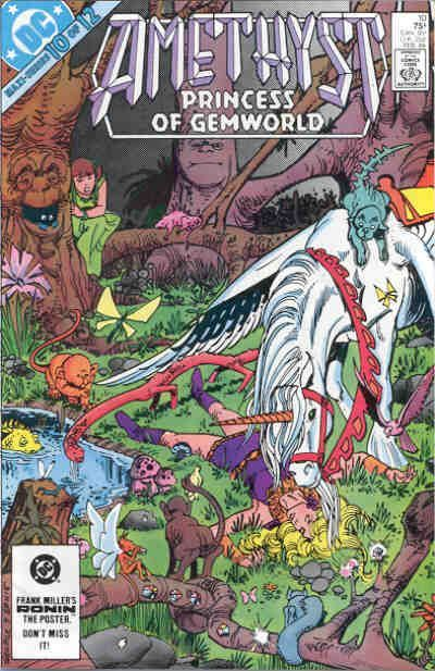 Cover for Amethyst, Princess of Gemworld (DC, 1983 series) #10 [Direct-Sales]