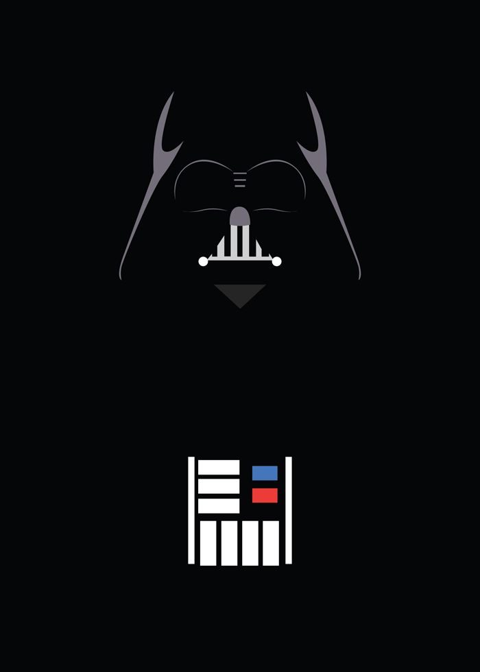 Darth Vader Minimalism Star Wars Wallpaper Star Wars Poster Star Wars Art