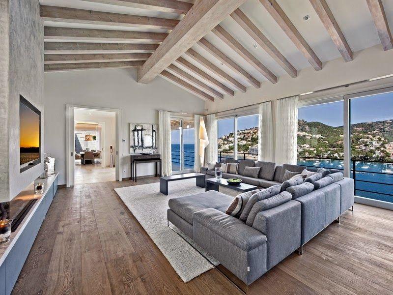 Diseño de Interiores & Arquitectura: Cautivante Villa Española en Puerto Andratx con unas vistas excepcionales