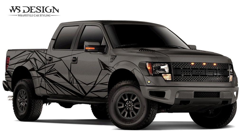 Raptor Black Brush Anthracite 02 Truck Design Car Wrap Design Vehicle Signage