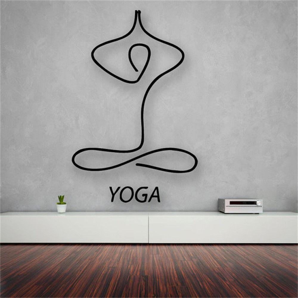 Yoga Meditation Living Room Decor Vinyl Wall Decal Sticker For Home Decoration Yoga Studio Design Yoga Decor Yoga Meditation Room