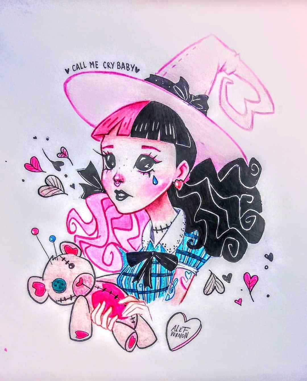 Melanie By Alefvernonart Singer Littlebodybigheart Littlebodybigheart Melanie M Melanie Martinez Drawings Melanie Martinez Melanie Martinez Mad Hatter