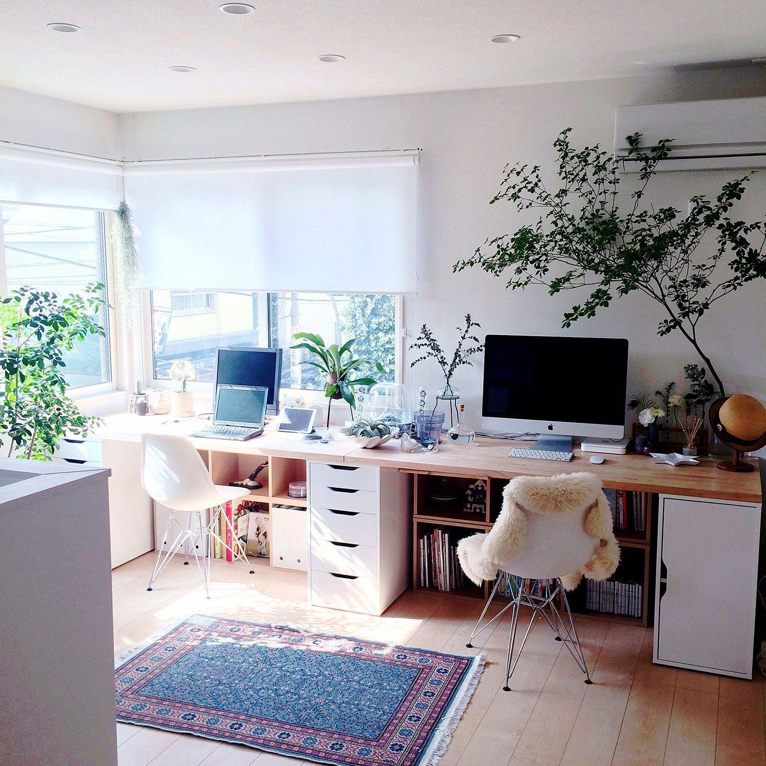 Desk And  Pinterest Naomiokayyy Home House Goals Decor Beauteous Home Office In Living Room Design Decorating Design