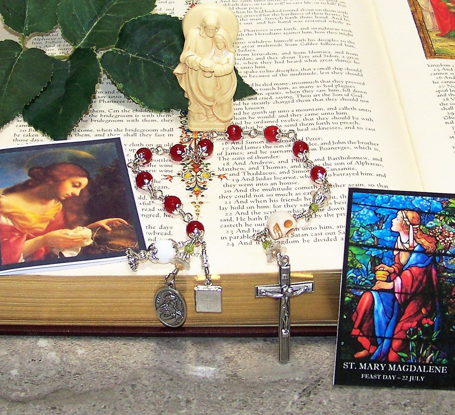 Saint Mary Magdalene Unbreakable Catholic Tenner Rosary W The