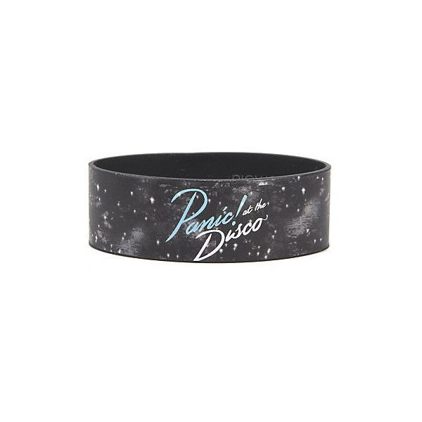 Panic! At The Disco Galaxy Rubber Bracelet Hot Topic (9.37 AUD) ❤ liked on Polyvore featuring jewelry, bracelets, disco jewelry, rubber jewelry, rubber bangles and cosmic jewelry