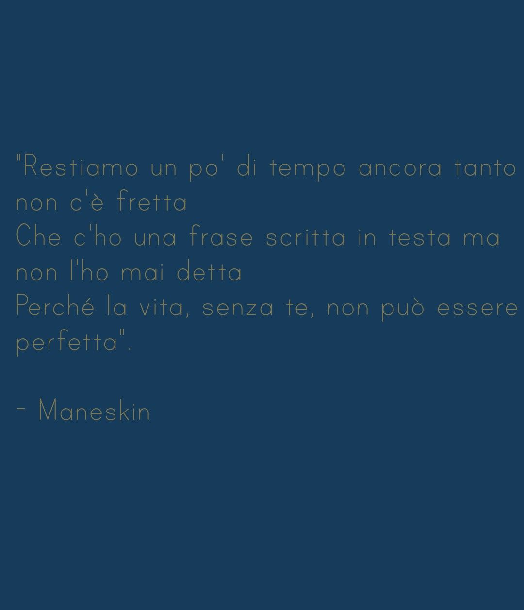 Maneskin Torna A Casa Maneskin Citazioni Di Canzoni