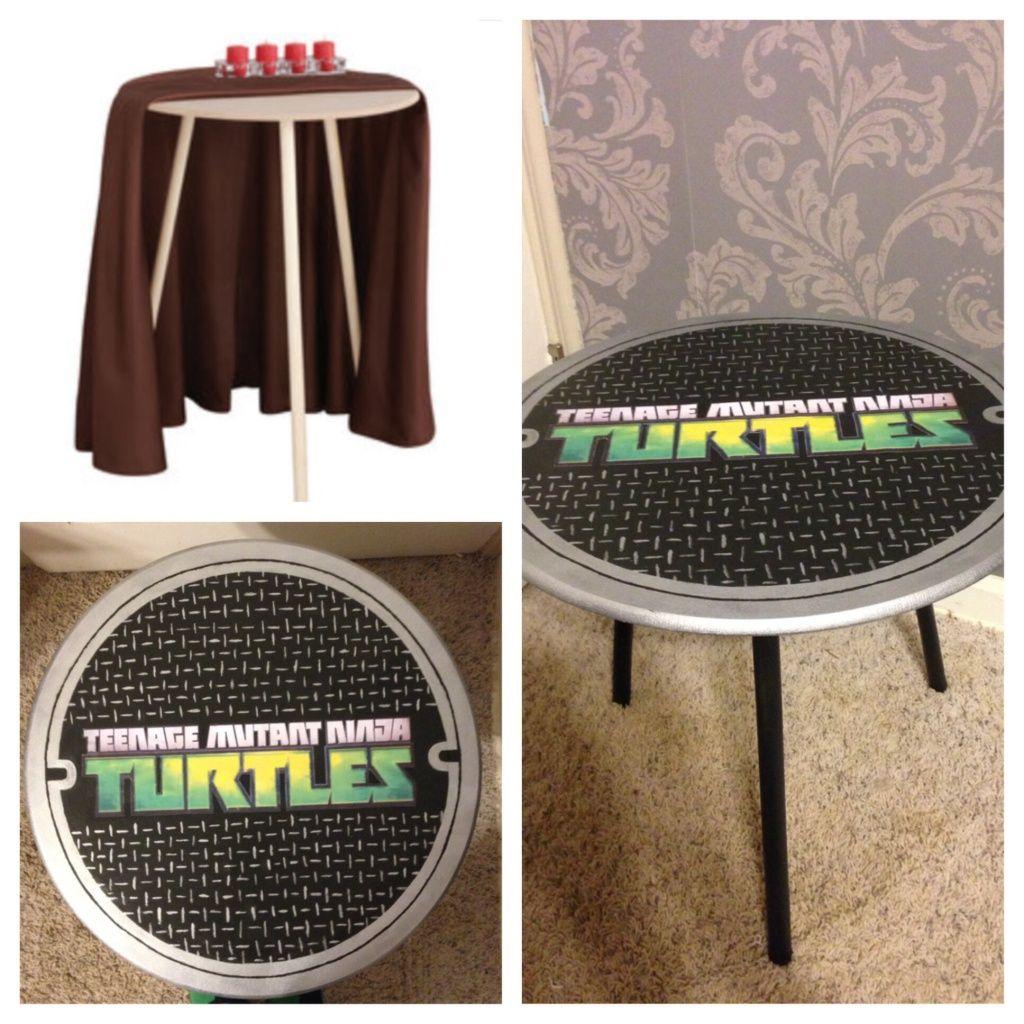 Ninja turtle side table home decor pinterest ninja turtles