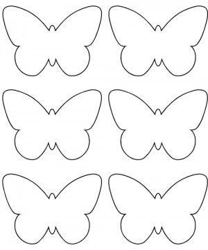 Pdf petit papillon deco coeurs mariposas de papel moldes de mariposas et manualidades de pascua - Dessin papillon a decouper ...