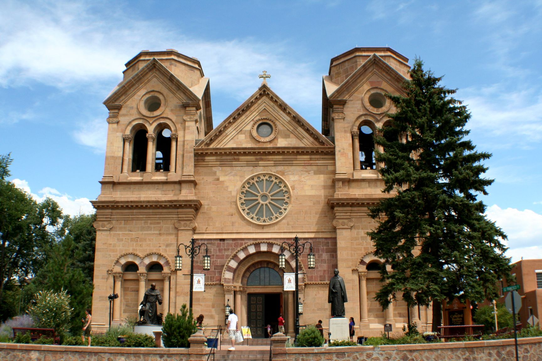 Cathedral of St Francis Santa Fe New Mexico just off of the