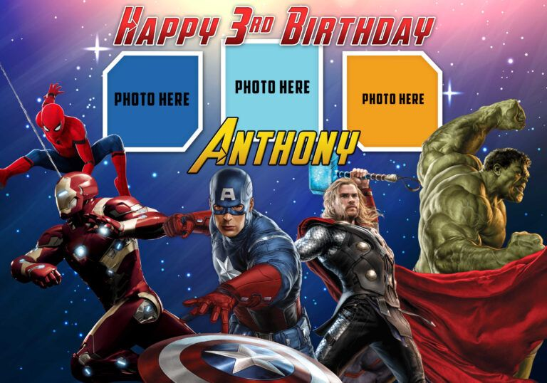 Avengers Birthday Tarpaulin Template Dioskouri Designs With Regard To Avengers Birthday Card Te In 2020 Birthday Card Template Avengers Birthday Happy Birthday Cards