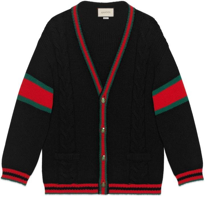 Photo of Gucci Oversize cable knit cardigan