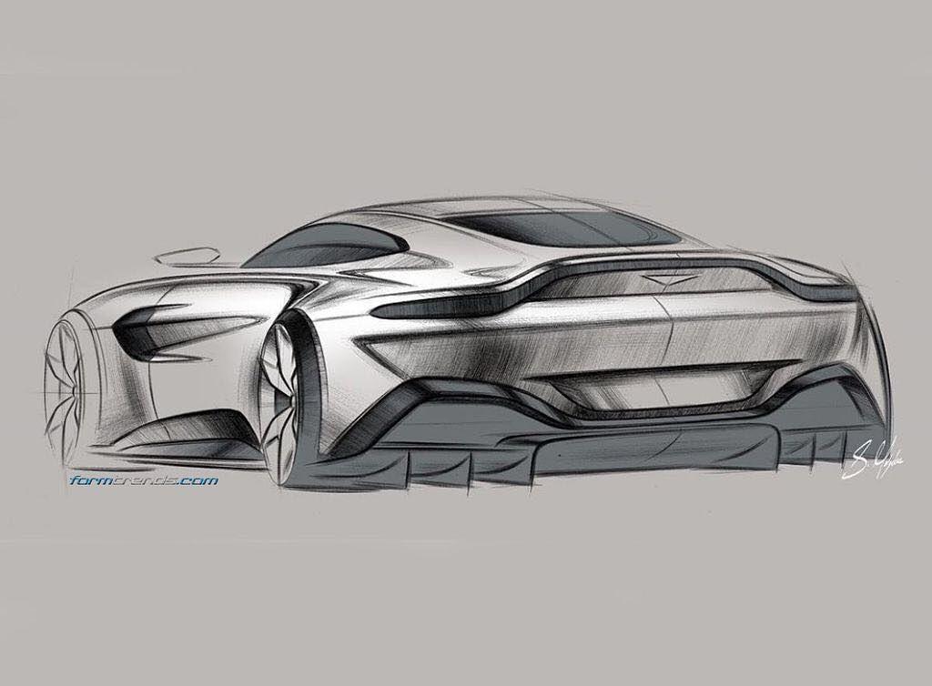 New Aston Martin Vantage Design Sketch By Sam Holgate Concept Car Design Car Design Sketch Concept Car Sketch