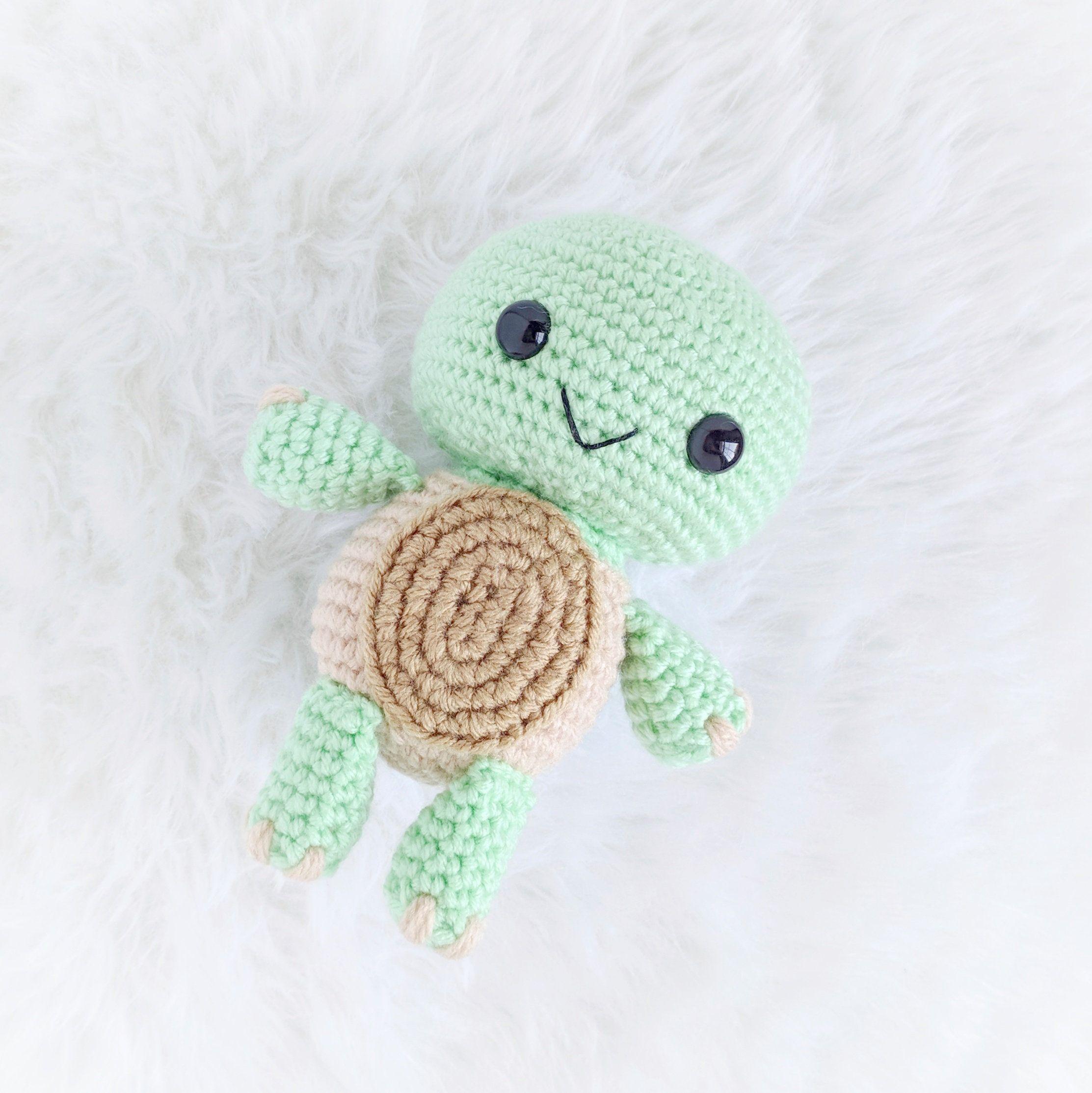 Pattern: Crochet Turtle Pattern, Amigurumi Turtle Pattern, Crocheted Turtle, Amigurumi Tortoise, Baby Turtle, Turtle Toy, Stuffed Turtle #crochetturtles