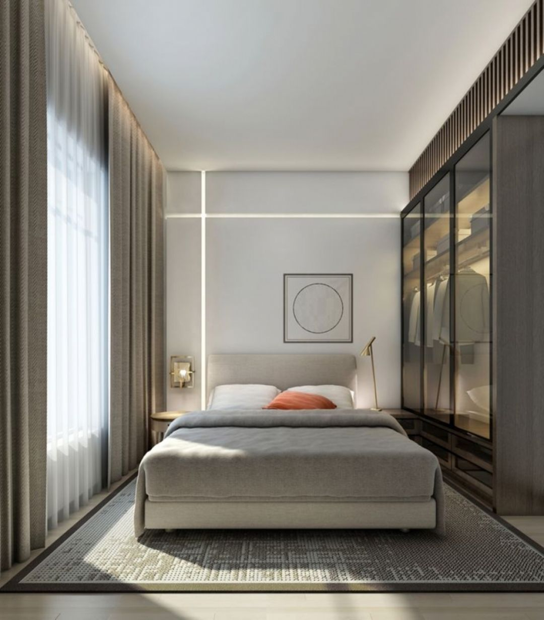 20 Beautiful And Comfortable Modern Style Bedroom Designs Apartment Bedroom Decor Modern Bedroom Design Small Master Bedroom Modern apartment bedroom ideas