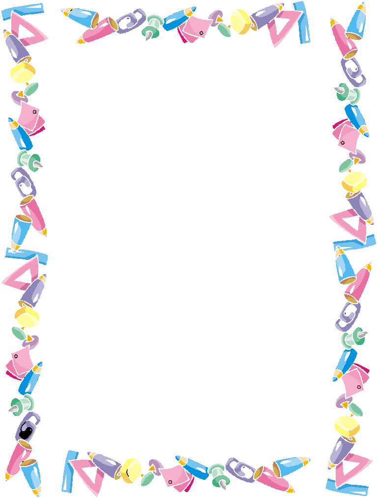 School frames and borders dise os escolares marcos for Paper border
