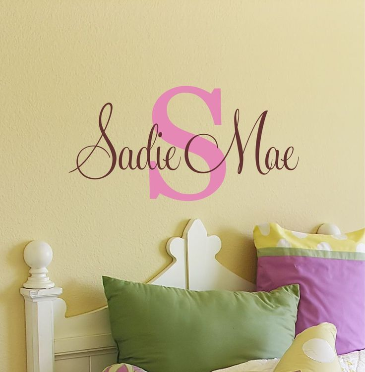 Childrens Wall Decal - Name Wall Decal - Wall Decals Nursery ...