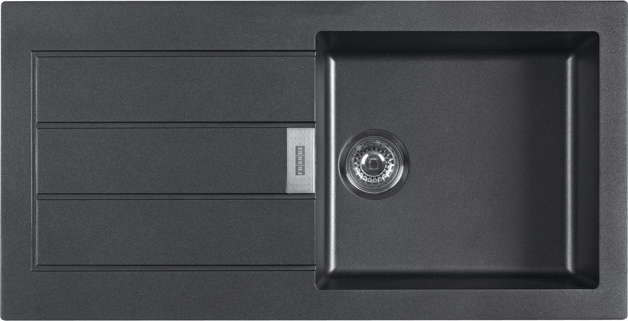 Franke Sirius 1 Bowl Black Composite Single Kitchen Sink ...