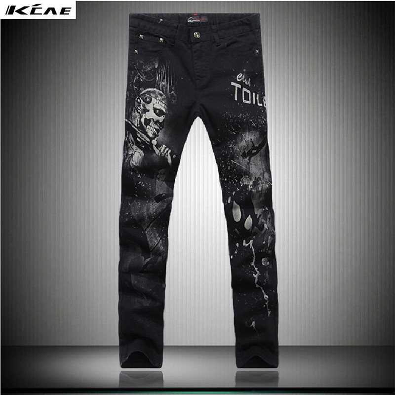 37.05$  Watch now - - Fashion Black Men Pants New Style Straight Trousers 3D Printed Jeans Men Casual Denim Trousers Slim Art Design Jeans  #buychinaproducts http://www.99wtf.net/category/trends/