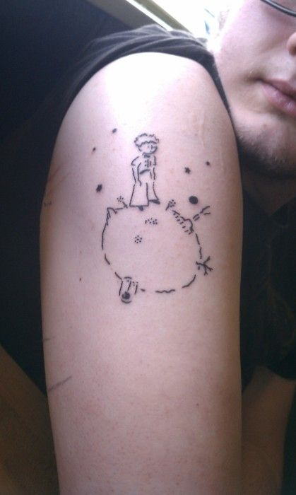 Der kleine Prinz - großartiges Tattoo.