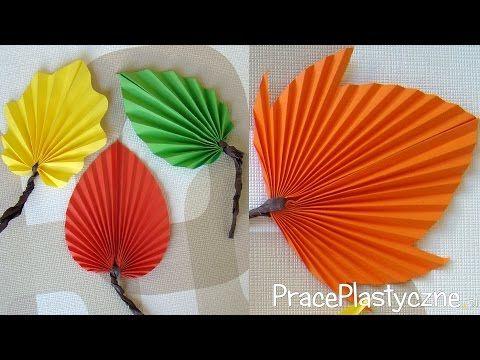 Jak Zrobic Jesienne Liscie Z Papieru Youtube Flower Making Autumn Leaves Art Autum Decorations