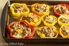 Photo of Baked peppers with sausage and tasty cheese filling