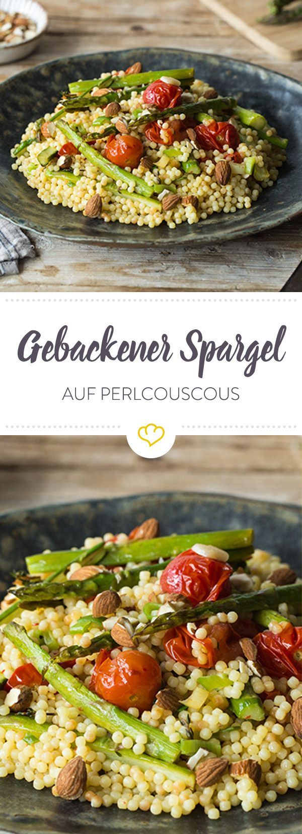Perlcouscous mit gebackenem Spargel | Rezept | Schnelle leichte ...