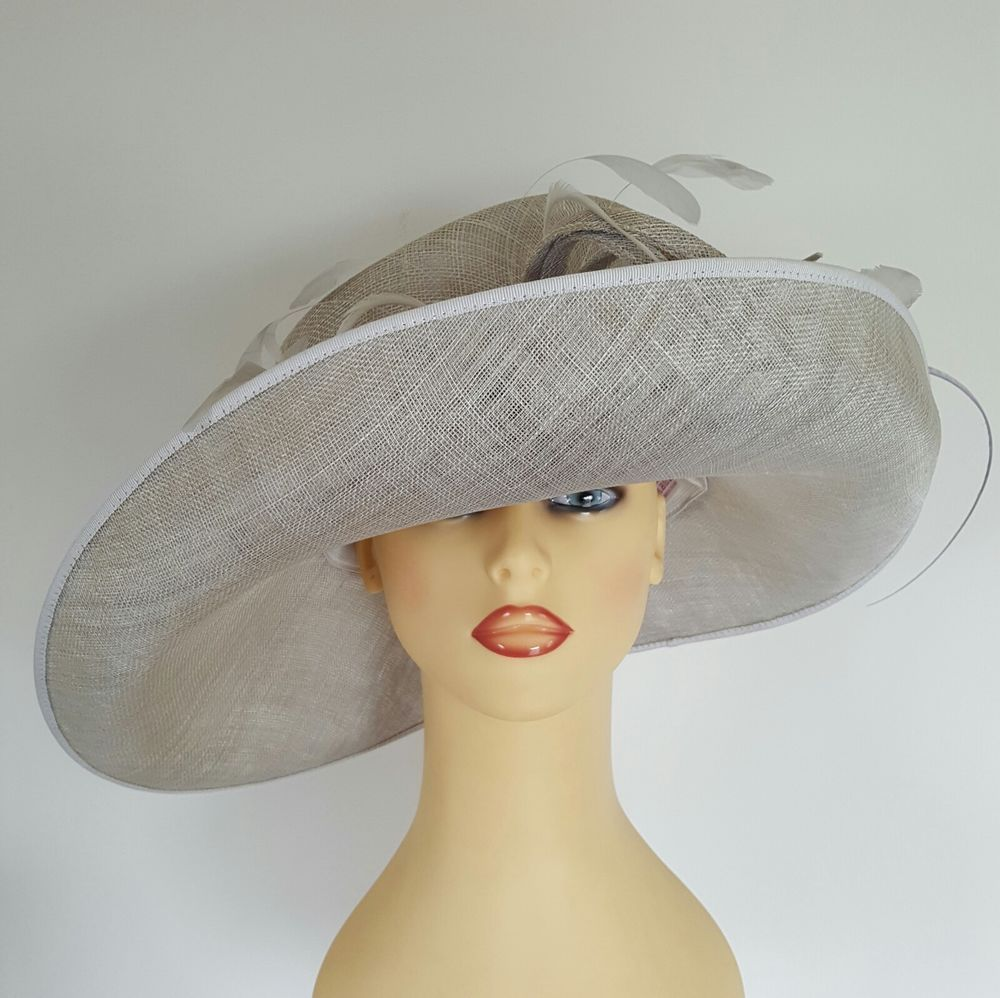 Ladies Wedding Hat Races Mother Bride Ascot Silver Grey By Gwyther-Snoxells 79c8ec2d522