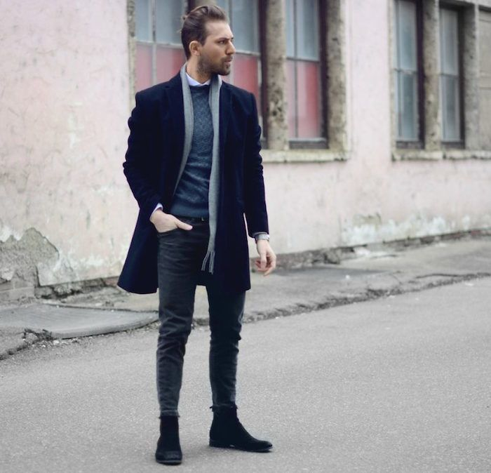 style casual chic homme hiver
