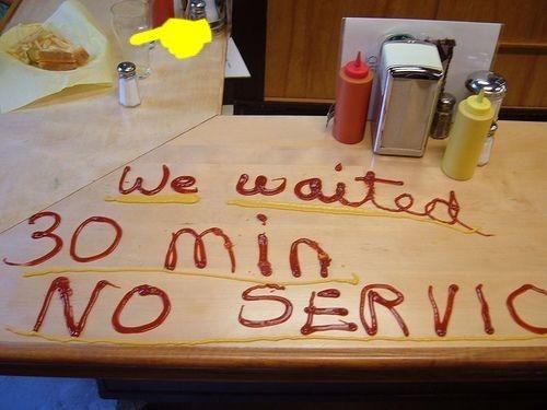 No service!