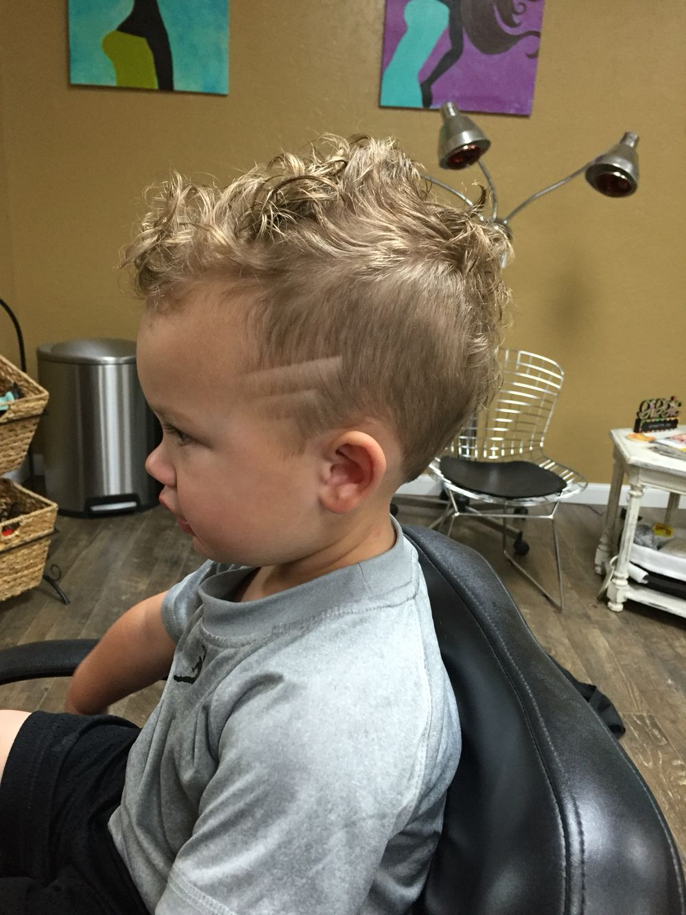 baby mohawk salon hair